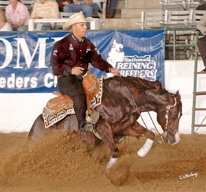 Craig Schmersal and Boom Shernic at the at the 2007 NRHA Futurity
